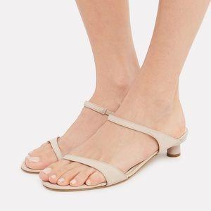 TIBI 2019 Purple Metallic Kitten Heel Sandals sz 9